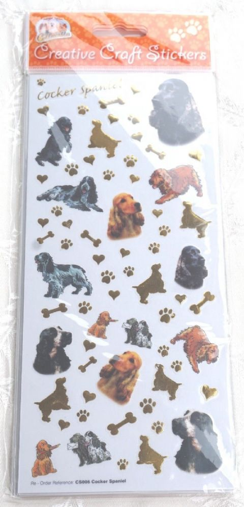 COCKER SPANIEL - CRAFT STICKERS SCRAPBOOKING CARD CRAFT ETC